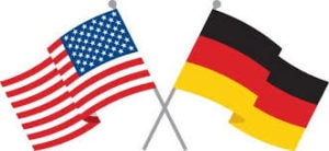 A German and American Flag