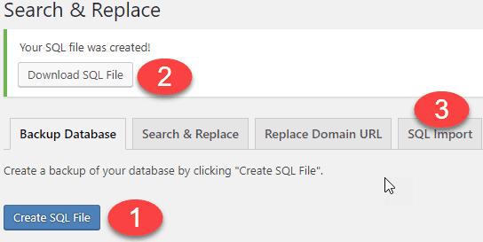 WordPress HTTPS use search and replace db backup