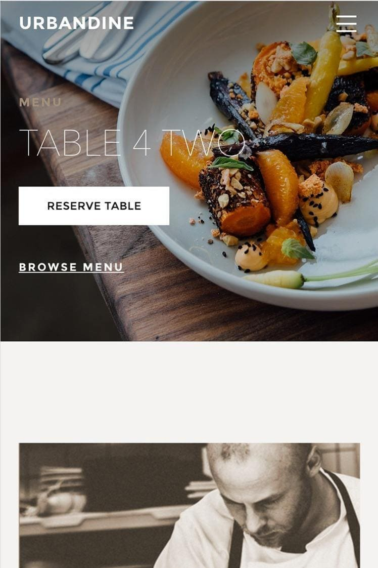 Weebly template Urban dine